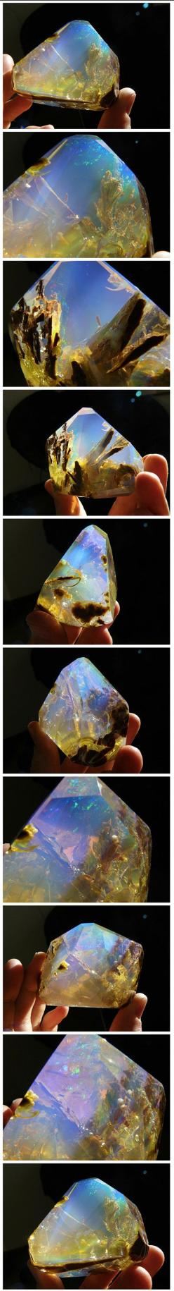 Crystals and gems are revered and collected for their physical beauty and monetary value and this Opal Butte crystal with contra luz color is no exception. The stunning gemstone, like many opals, features a varied spectrum of colors, but what separates it