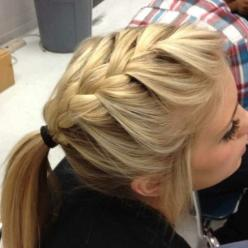 #Cute hair for work! Like, share and repin :D: French Braids, Hair Ideas, Pony Tail, Hairstyles, Ponytail, Frenchbraid, Hair Styles, Makeup, Beauty
