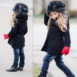 Cute hat. The whole outfit it pretty stylin'. I need to up my game! :-): Kid Outfit, Little Girl Style, Winter Outfit, Kids Outfit, Kids Fashion Girl, Little Girl Fashion, Kidsfashion