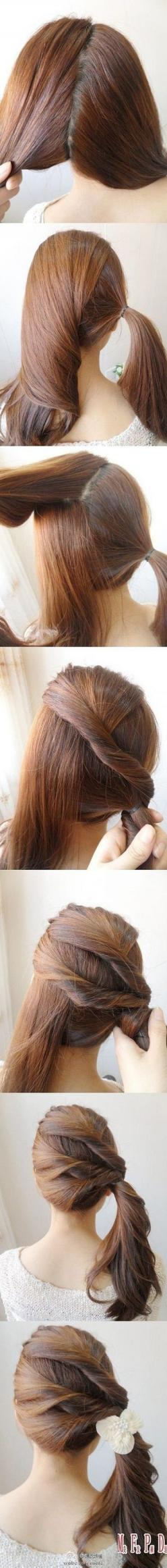 Cute ponytail: Pony Tail, Hairstyles, Make Up, Idea, Hair Styles, Hairdos, Makeup, Hair Twist, Side Ponytails