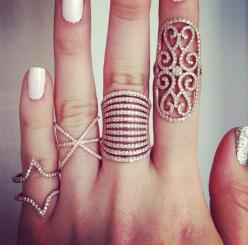 Dainty rings: Fashion, Style, Jewelry, Rings, Things, Accessories, Bling Bling