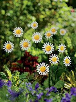 Daisy Bouquet Stakes | Garden Decor | Buy from Gardener's Supply: Yard, Bouquet Stakes, Bouquets, Gardens, Flower, Daisies Bouquet, Metal Garden Art