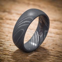 Damascus Stainless Steel Domed Men's Wedding Band Black Acid Finish on Etsy, $399.00: Mens Wedding Band, Men'S Wedding Band, Men Wedding Bands, Damascus Stainless, Steel Domed, Band Black, Stainless Steel, Mens Wedding Ring