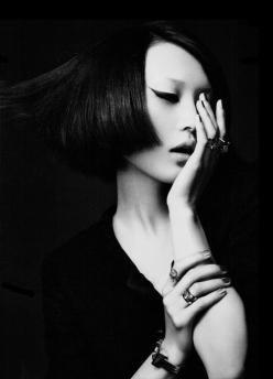 darkula: Zhang Xu Chao / 张许超: Idea, Faces, Asian Beauty, Art, White, Black, Eye