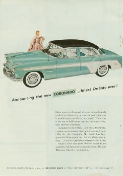 De Soto - 1955: Ad Car, Soto Coronado, Automobile Ads, Vintage Cars, Desoto Cars, Cars Ads, Cars Advertisements