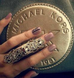 decorative knuckle ring: Fashion, Style, Michael Kors, Jewelry, Rings, Beauty, Nails, Accessories, Michaelkors