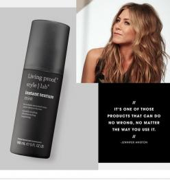 Discover Jennifer Aniston's secret weapon for perfectly tousled hair - on the #Sephora Glossy>: Tousled Hair, Jennifer Aniston, Perfectly Tousled, Hairstyle, Living Proof