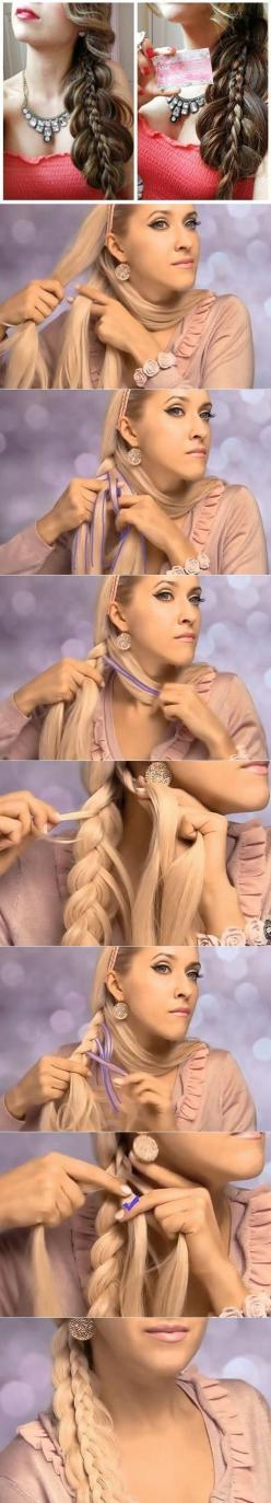DIY Side Braided Hairstyle for Long Hair | www.FabArtDIY.com LIKE Us on Facebook ==> https://www.facebook.com/FabArtDIY: Braided Hairstyles Tutorials, Hairstyle Tutorials, Stacked Braid, Hair Style, Hairstyles For Long Hair