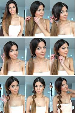 ~ DIY Simple twist on a side ponytail~ this is super cute and I could actually do this!!: Hair Tutorials, Idea, Hairstyles, Hair Styles, Beauty, Side Ponytails