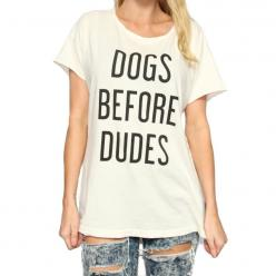 Dogs Before Dudes Distressed Rocker Tee // The Tree Kisser: Distressed Rocker, Dogs, Rockers, Graphic Tees, Dudes Distressed, Photo, Products