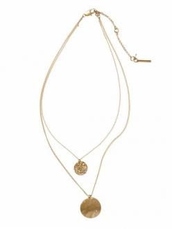 Double Layer Pendant Necklace / Kenneth Cole New York: Walsh Jennings Wears, Layered Necklaces, Walsh Wears, Gold Layered, Gold Accent, York, Double