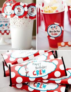 dr. seuss birthday party ideas | Dr Seuss Cat in the Hat Birthday Party Planning Ideas Supplies Cake: Party'S, Bday Ideas, Birthday Parties, 1St Bday, Drseuss, 1St Birthday, Cats In Hats, Birthday Party Ideas, Birthday Ideas