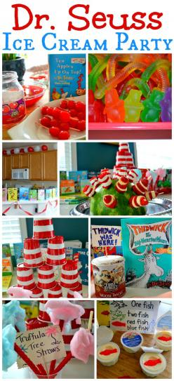 Dr. Seuss Ice Cream Party! MomOnTimeout.com: Drseuss, Seuss Party, Dr Suess, Dr. Seuss, Partyideas, Dr Seuss Ice Cream Party, Party Ideas, Birthday Party, Baby Shower