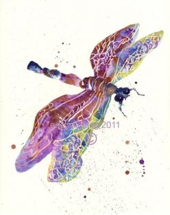 DRAGONFLY Print dragonfly painting purple lavender by eastwitching, $30.00: Watercolor, Dragonfly Art, Dragonflyart, Art Prints, Dragonfly Print, Mother'S Day, Tattoo, Dragonfly Painting, Dragonflies