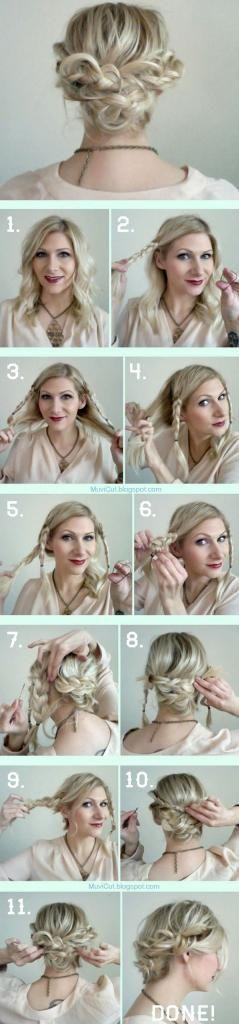 Easy Hairstyle for Medium Length Hairs: Hairstyles, Hairdos, Hair Styles, Hair Tutorial, Updos, Hair Do, Messy Updo