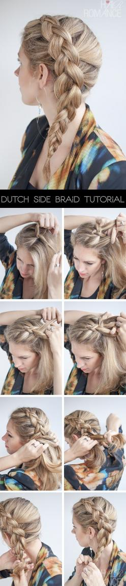 Easy Hairstyles  Every Woman Can Do in Five Minutes: Hairstyles, Side Dutch, Braid Tutorials, Hair Styles, Hair Tutorial, Dutch Braids, Dutch Side, Side Braids