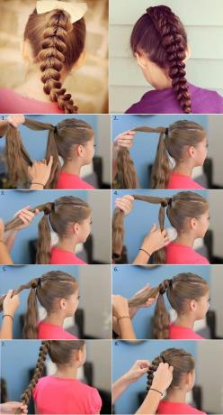 Easy Pull-Through Braid Hairstyle --> http://wonderfuldiy.com/wonderful-diy-stylish-pull-through-braid-hairstyle/: Hairstyles, Hair Styles, Kids Braid, Girl Braid
