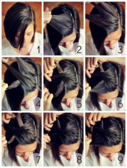 Easy Side Plait (Braid) for Short Hair How-To: Hair Ideas, Hairstyles, Hairdos, Hair Styles, Short Hair Style, Haircut, Short Hair Tutorial