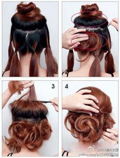 Easy updo that looks great: Messy Bun, Hairstyles, Hair Styles, Hairdos, Makeup, Updos, Tutorial