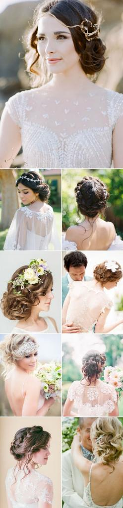 Effortless Beauty – 2014 Most Romantic Bridal Updos: Romantic Wedding Updo, Wedding Hair Updo, Romantic Bridal Hairstyle, Romantic Updo, Messy Updo, Wedding Hairstyles, Hairstyles For Long Hair