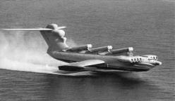 Ekranoplan. The Caspian Sea Monster - that uses ground effect to travel at high speeds over the water: Caspian Sea, Airplane, Aircraft, Lun Class Ekranoplan, Vehicle, Sea Monsters, Planes