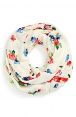 Embrace spring | Kate Spade 'spring garden' infinity scarf.: Colour, Infinity Scarfs, Color, Floral Bloom, Cute Scarfs, Gardens, Spring Garden, New York, Kate Spade