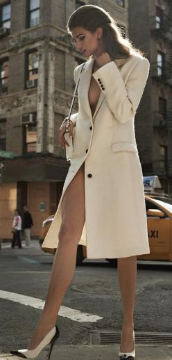 Everything about her is so feminine and sexy it hurts. Holy legs holy trench coat and holy boobs!: Sexy, Fashion, Style, Mariano Vivanco, Posts, Kendra Spears, Photo, Coats