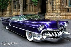 Evil Caddy...Brought to you by #HouseofInsurance in #Eugene #Oregon: Rides, Classic Cars, Custom Cars, Cadillac, Classiccars, Wheels, Hot Rods, Hotrods