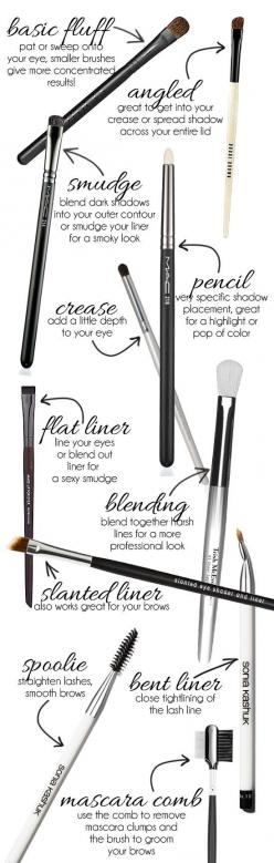 Eye Makeup Brushes 101: How to use each of them!: Beauty Tips, Brushes 101, Eye Makeup, Makeuptips, Makeup Brushes, Makeupbrushes, Eyemakeup