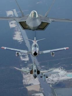 F-22 Raptor,F-86 Saber F-4 Phantom F-15-E Strike Eagle: Aviation, F 22 Raptor, Military Aircraft, Air Force, Airplanes, Air Power, Aircraft, F22, Fighter Jets
