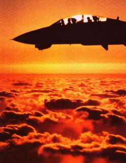 F14 pilot & navigator / weapons op clearly visible.: Flying, Top Gun, Sunset, Airplane, Aircraft, F14, F 14 Tomcat, Photo, Fighter Jets
