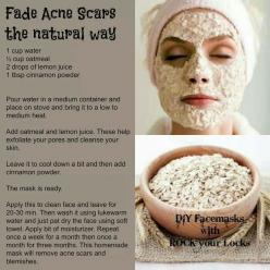 Fade acne scares and blemishes... naturally: Skincare, Beauty Tips, Skin Care, Acne Scars, Facemask, Fade Acne, Acnescars, Health, Face Masks