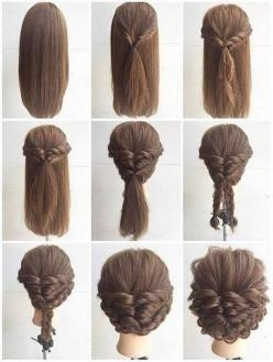 Fashionable Braid Hairstyle for Shoulder Length Hair: Updo Hairstyle, Hairstyles Medium Length, Shoulder Length Hairstyle, Diy Medium Length Hair Style, Fashionable Braid, Medium Braided Hairstyle