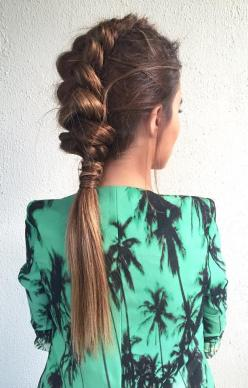 faux hawk half braid - love it! ~ we ❤ this! moncheriprom.com: Low Ponytail, Mohawk Hairstyle, Faux Hawk