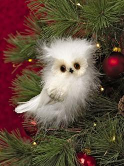 Feathered Owl: Feathered Owl, Wire Feet, Owl Christmas, Decorating Ideas, Owl Ornament, Ornaments, Christmas Ornament