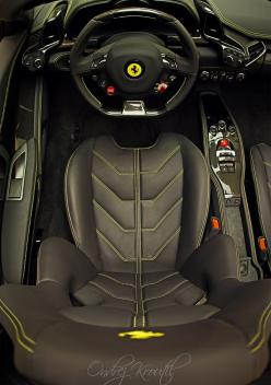 Ferrari 458 Italia Spider interior shot. (Click on photo for high-res. image.) Photo found here: http://6speedhaven.tumblr.com/post/25140301868/ferrari-458-italia-spider-interior: Interior, Ferrari458, Cockpit, Ferrari 458, Dream Cars, Auto, 458 Italian