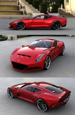 Ferrari 612 GTO - Absolutely perfect design. Sexy and sultry in its balance and curves. Agressive and angry in the cuts and venting, like a well dressed psycopath, it is an outer elegance hiding an inner ferocity, only hinted at by well proportioned lapse