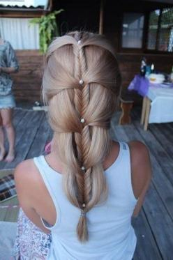fishtail french: Hair Ideas, Hairstyles, Wedding Hair, Hair Styles, Makeup, Beautiful, Fishtail Braids, Beauty