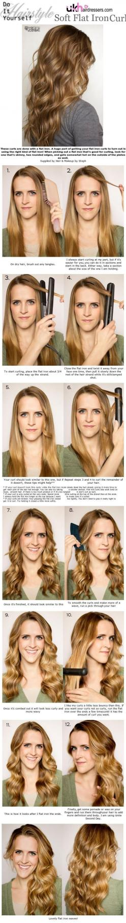 Flat Iron Curls 6 Ways to curl your hair: Flat Irons, Curling Hair, Hairstyles, Curls Ukhairdressers, Flat Iron Curls, Hair Styles, Flatiron