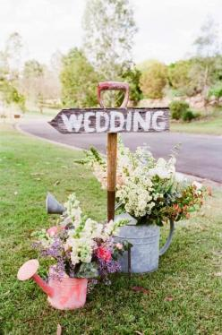 Flower Garden Wedding Ideas - The Perfect Theme For Your Spring Wedding Plans. http://memorablewedding.blogspot.com/2014/02/garden-wedding-ideas-perfect-theme-for.html: Wedding Ideas, Country Wedding, Weddings, Watering Cans, Dream Wedding, Wedding Signs,