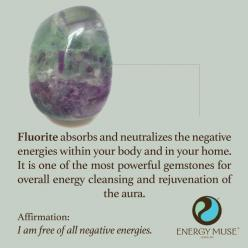 Fluorite absorbs and neutralizes the negative energies within your body and in your home. It is one of the most powerful gemstones for overall energy cleansing and rejuvenation of the aura.: Fluorite Stone, Crystal And Stone, Crystal Power, Stones And Cry