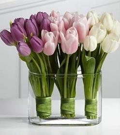 For Easter/spring:  use silk flowers and place on front entry hallway table.: Ideas, Wedding, Flower Arrangements, Floral Arrangements, Tulips, Centerpieces, Flowers, Favorite Flower