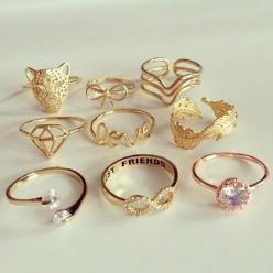 For more details, please visit to http://www.aliexpress-myselfjewellery.com: Cute Rings, Fashion, Style, Jewellery, Gold Rings, Jewelry, Things, Jewels, Accessories