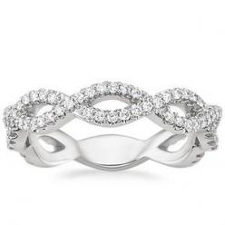 For your never-ending love.: Wedding Ring, Diamond Rings, Wedding Band, Twist Diamond, Engagement Ring, Diamonds Twist