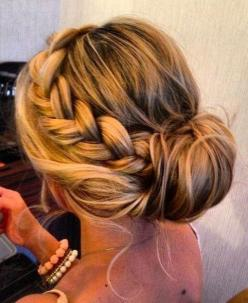 Formal Hair: This is a beautiful curly hairstyle that can be used for a formal event or just going out with friends.. It can also be worn if out on the beach.: Wedding Hair, Hairstyles, Hair Styles, Updos, Braided Bun