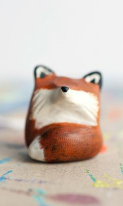 Fox Totem // le animalé: Fox Totem, Animal Totems, Handmade Gifts, Foxes, Design, Miniature, Red Fox