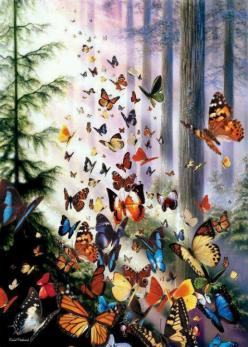 Friends should be a beautiful reflection of who you are. Find others that help you fly!: Beautiful Butterflies, Butterfly, Art, Forest, Jigsaw Puzzles, Butterfly Woods, Animal, Dragonflies