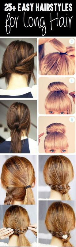 From Classy to Cute: 25 Easy Hairstyles for Long Hair>>>>For when my hair grows back out:): Easy Hairstyles, 25 Easy, Easy Long Hair Style, Long Hair Hairstyle, Hair Do, Easy Long Hairstyle, Easy Hair Style, Hairstyles For Long Hair