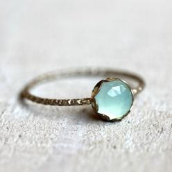 Gemstone ring - blue chalcedony ring from Praxis Jewelry. $38 Free shipping within the U.S. » This is really beautiful!: Gemstone Rings, Blue Chalcedony, Engagement Ring