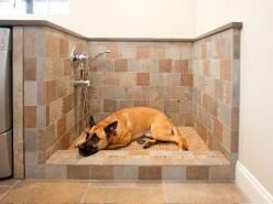 Go bigger with the drain. Longo recommends using a 3-inch drain in a pet washing station. It will handle dog hair better than the standard 1...: Washing Station, Idea, Pet, Dog Wash, Mud Room, Laundry Rooms, Dog Shower, Laundryroom